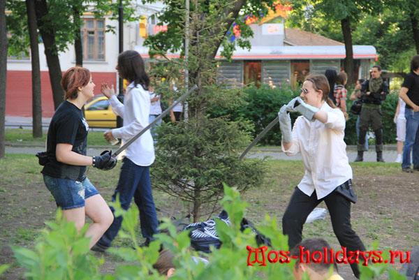 Фехтовальщики на Болотной площади