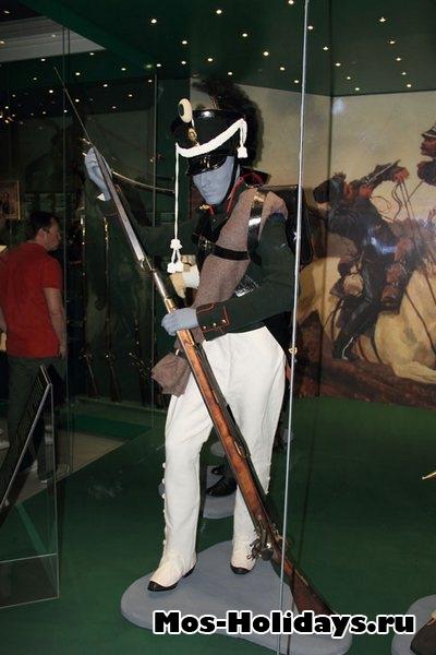 Пехотинец русский войск времен войны 1812 г. Музей-панорама Бородинская битва