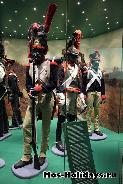 Солдаты французской армии времен войны 1812 г. Музей-панорама Бородинская битва