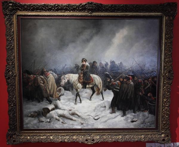Возвращение Наполеона из похода на Россию. Картина из музея Бородинская панорама