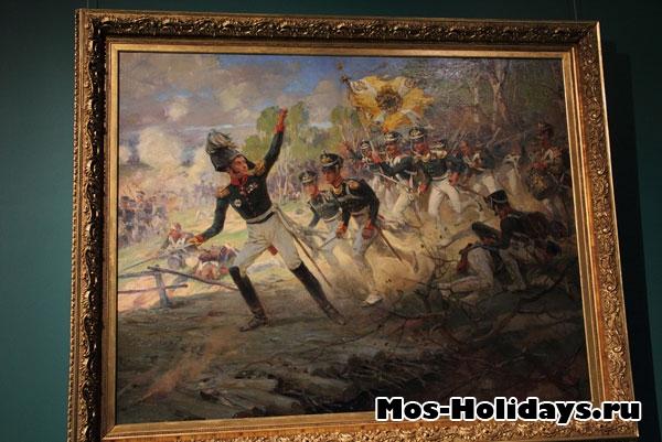 Подвиг солдат Раевского под Салтановкой, картина из музея-панорамы Бородинская битва