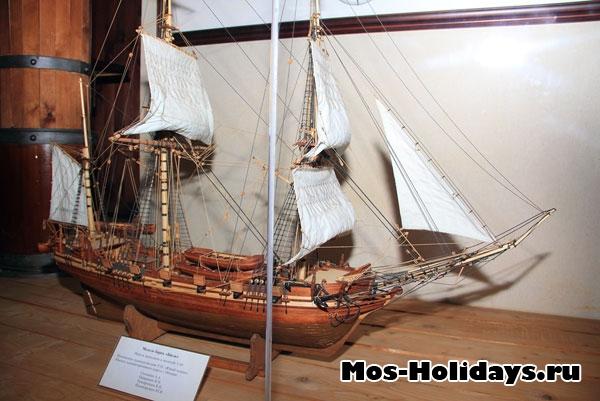 Макет корабля «Бигль», на котором путешествовал Чарльз Дарвин в Дарвиновском музее