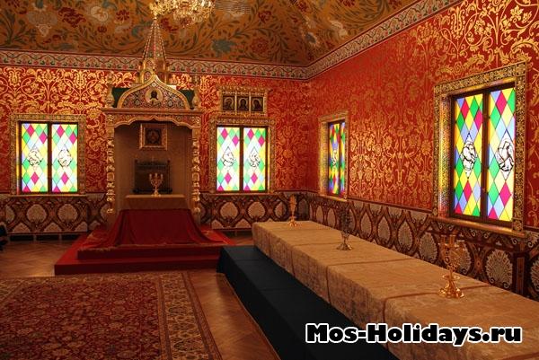 Столовая палата во дворце Алексея Михайловича