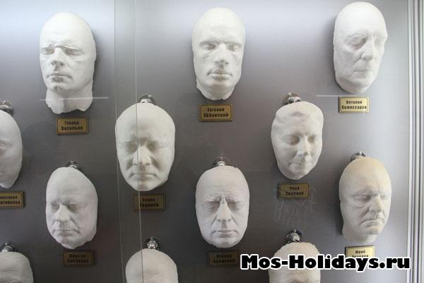 Слепки лиц актёров для пластического грима, киностудия Мосфильм