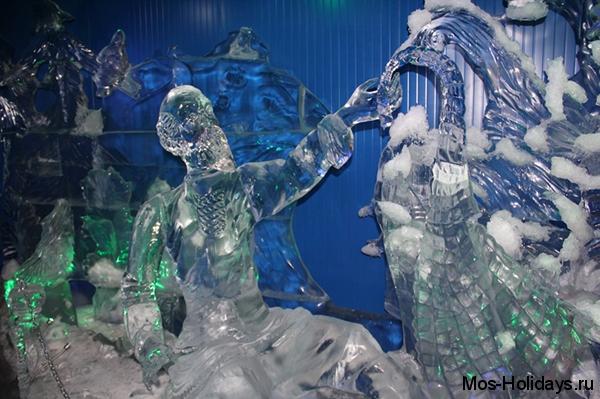 Ледяные скульптуры из сказки о Золотой рыбке