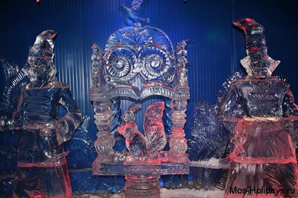 Ледовые скульптуры на Красной Пресне