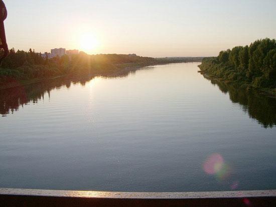 Закат на реке Чепце