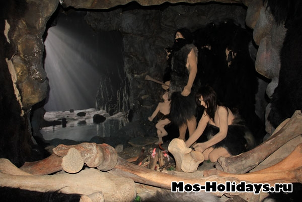 """Пещера древнего человека в музее """"Ледниковый период"""""""