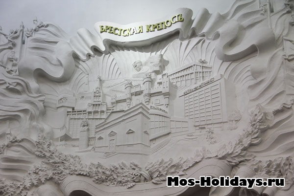 Изображение города-героя Бреста в музее ВОВ