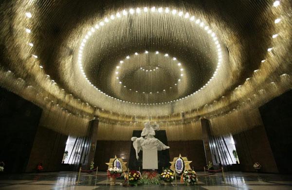 Зал памяти и скорби в музее Великой Отечественной Войны