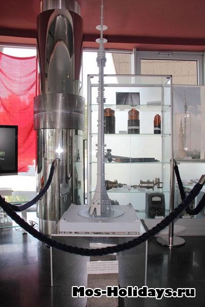 Останкинская башня в разрезе
