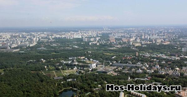 Вид с Останкинской башни, фото с экскурсии