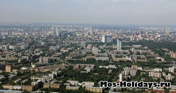Вид с Останкинской башни