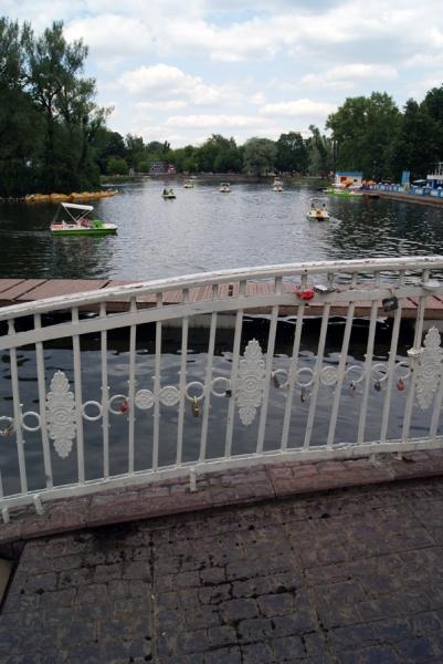Голицынский пруд в Парке Горького