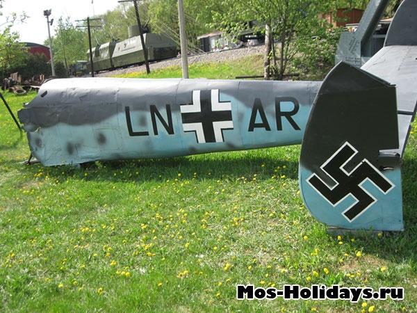 Фюзеляж немецкого самолета в музее военной техники в Парке Победы