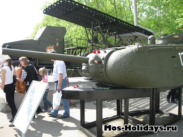 Башня танка в музее военной техники в Парке Победы