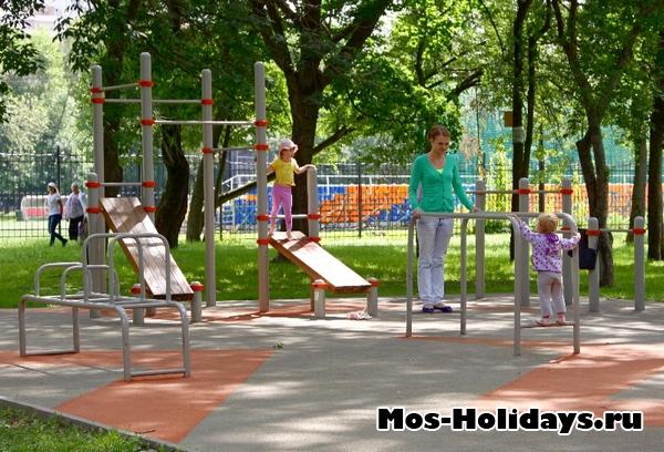 Спортивная площадка в Перовском парке