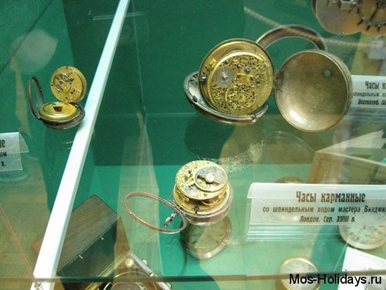 Карманные часы в Политехническом музее Москвы