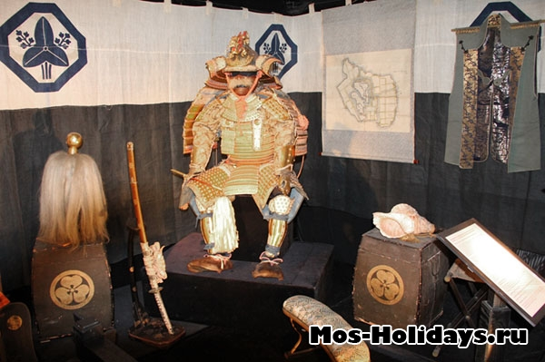 На выставке самураев в Москве