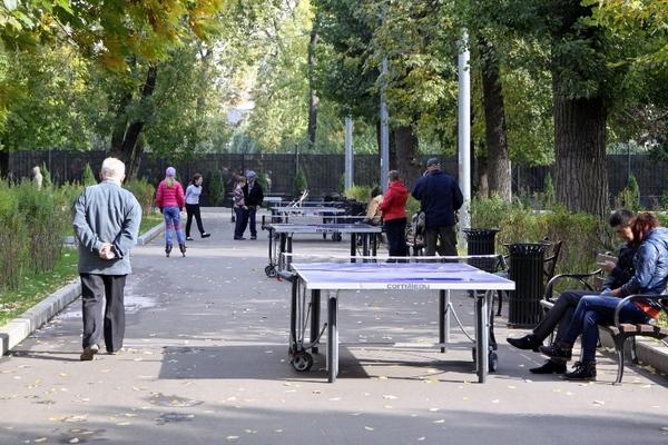 Столы для пинг-понга в Таганском парке