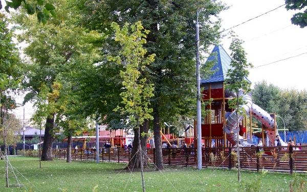 Детские площадки в Тагнском парке