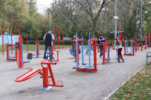Спортгородок в Таганском парке