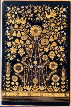 Ковёр с, вышитый золотом, сделан мастерами Торжка