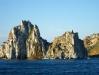 Скала Шаманка, вид с Малого моря озера Байкал