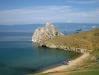Пляж на мысе Бурхан острова Ольхон озера Байкал