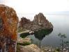 Скала Шаманка на мысе Бурхан острова Ольхон озера Байкал