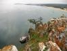 Вид на Сарайский залив с мыса Бурхан острова Ольхон озера Байкал