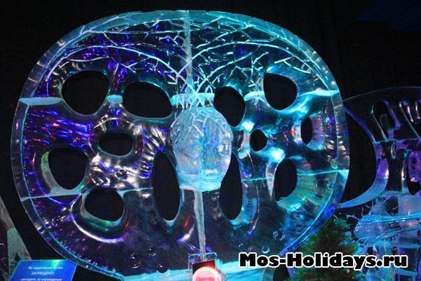 Ледяная фигура с выставки в Сокольниках