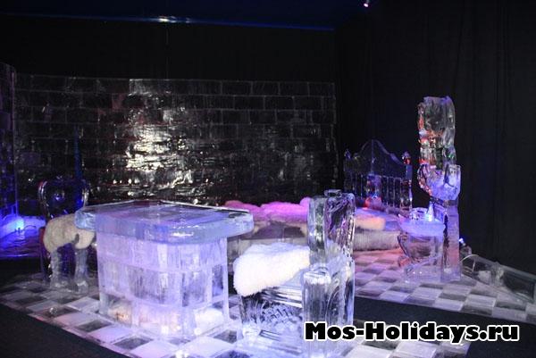 Ледяная комната на выставка ледяных фигур в Сокольниках