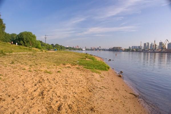 Пляж в парке Северное Тушино