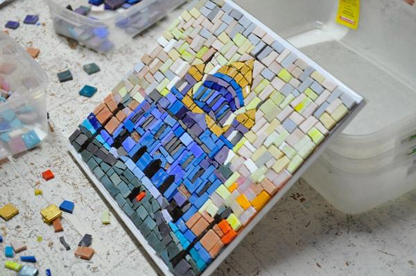 Изготовление мозаичной плитки своими руками 32