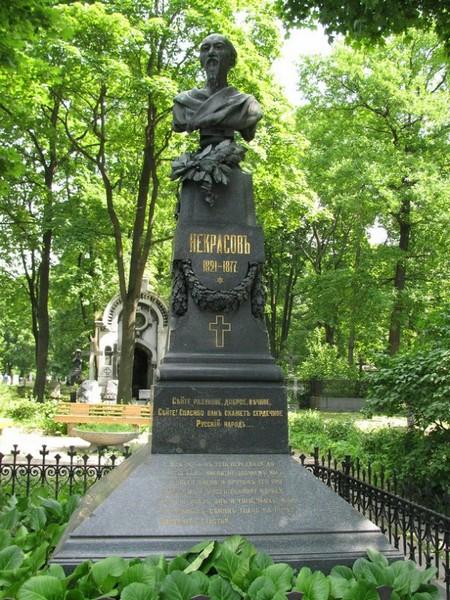 Московское Новодевичье кладбище, могила Некрасова