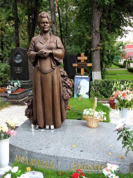 Московское Новодевичье кладбище, могила Зыкиной