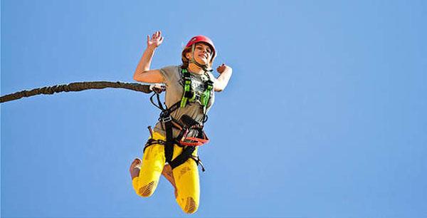 Прыжок с веревкой и троллейный спуск для одного или двоих от компании «Jet»