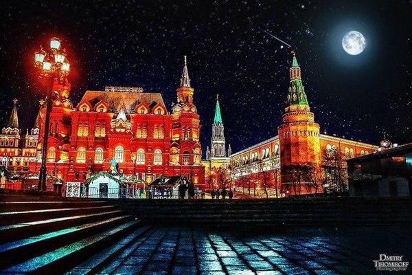 Автобусная экскурсия «Ночная Москва» от компании «Шаг за Шагом»