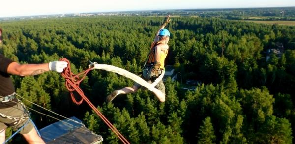 Скидка 25% на прыжок с веревкой с высоты 50 метров от компании ICG Extreme Team