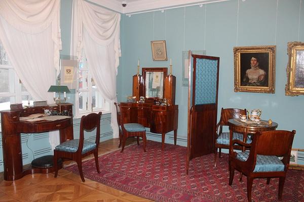 Экспозиция Дома-музея М.Ю. Лермонтова