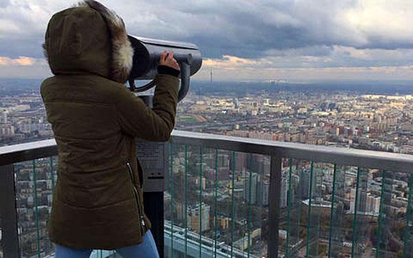 Экскурсия с подъемом на самую высокую открытую смотровую площадку в Европе 87 этаж башни «ОКО» в ММДЦ «Москва-Сити»