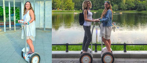 Часовая или полуторачасовая прогулка на гироскутере для одного или двоих в парках Москвы от компании «Мобильные прогулки»