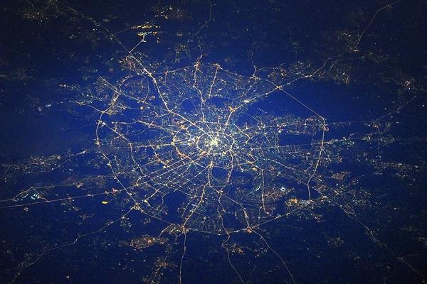 фото из космоса москвы