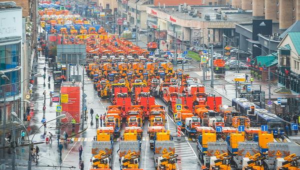 Выставка автомобильного транспорта комплекса городского хозяйства Москвы
