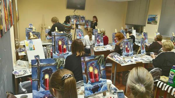 «Летний дождь» — мастер-класс по живописи маслом