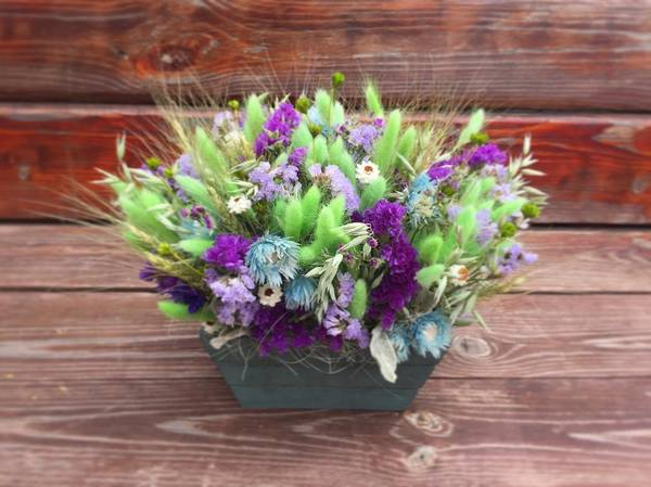 Мастер-класс по созданию корзинки из сухоцветов