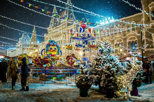 Рождественская «ГУМ-Ярмарка» на Красной площади