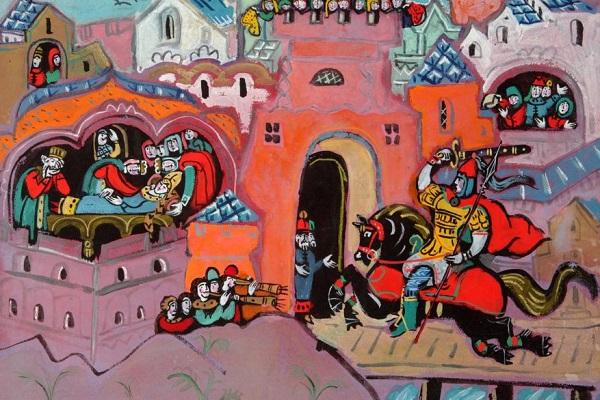 Выставка книжной иллюстрации «Сказки Пушкина в гостях у Звездочета»
