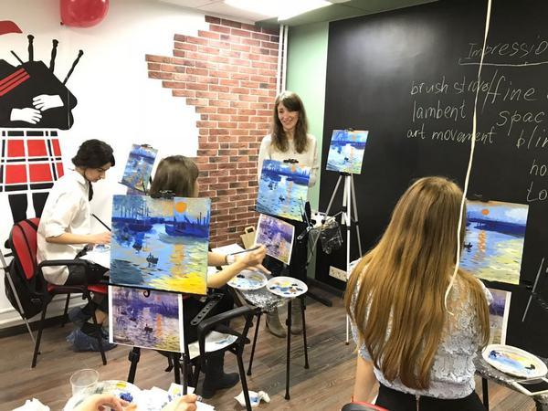 Мастер-класс по живописи на английском языке